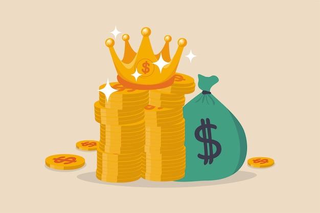 El efectivo es el rey el dinero es el mejor valor en una crisis o el inversor prepara efectivo para comprar acciones