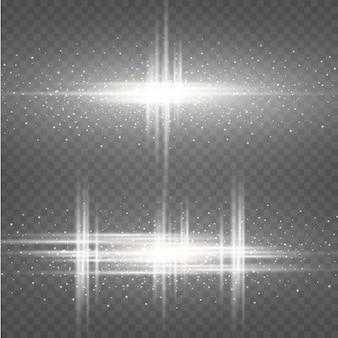 Efecto blanco cósmico. exuberante luz blanca fuerte.