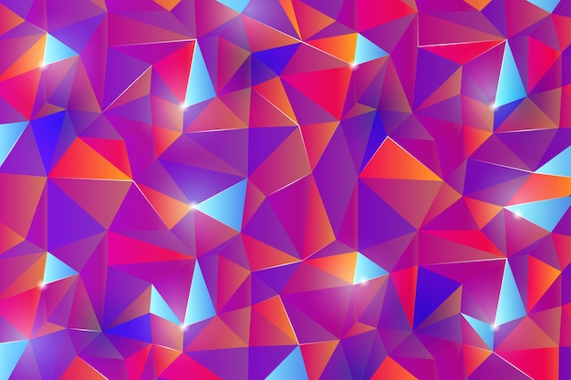 Efecto de caleidoscopio de colores de fondo abstracto