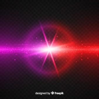 Efecto choque fuerzas realista efecto de luz