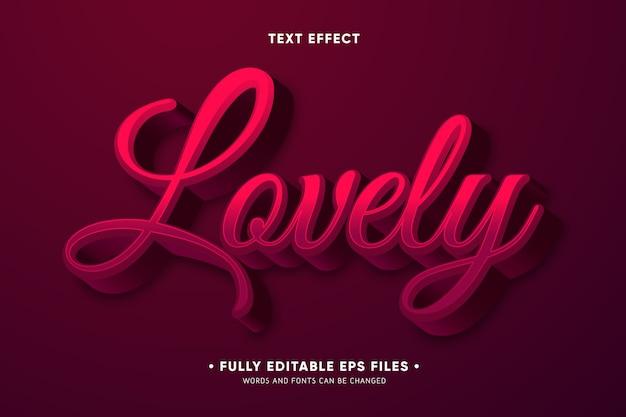 Efecto creativo texto encantador