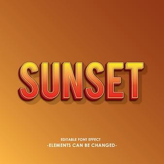 Efecto de la fuente sunset