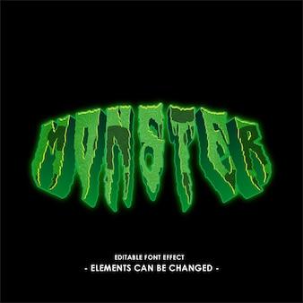 Efecto de texto de monstruo verde para el título