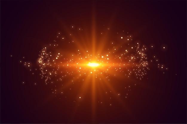 Efecto destello de lente de luces explosivas