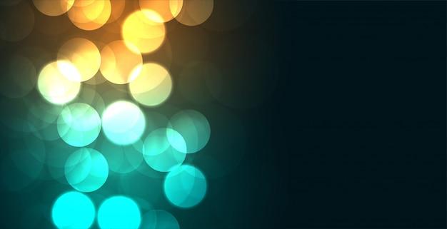 Efecto de diseño de fondo brillante bokeh de colores brillantes