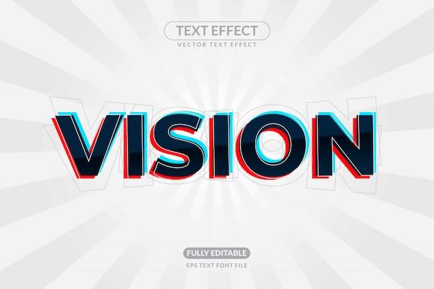 Efecto editable del texto de la visión del ojo