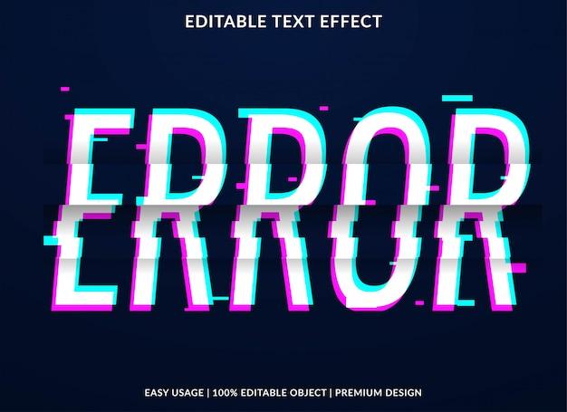 Efecto de error de texto de error