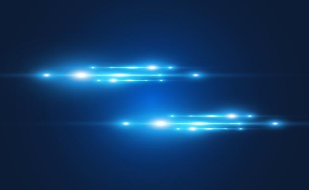 Efecto especial azul claro brillantes hermosas líneas brillantes