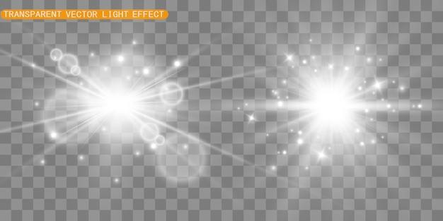 Efecto especial de destello de luz. ilustración