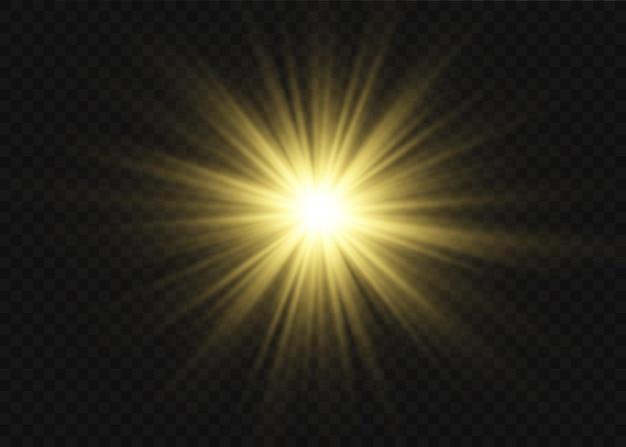 Efecto especial de destello de luz con rayos de luz.