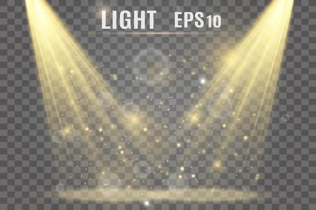 Efecto especial de destello de luz.