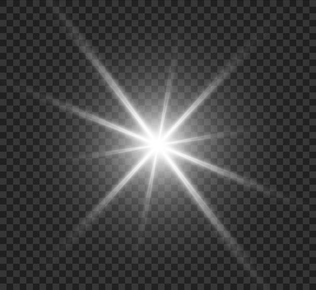 Efecto especial de flash de luz.