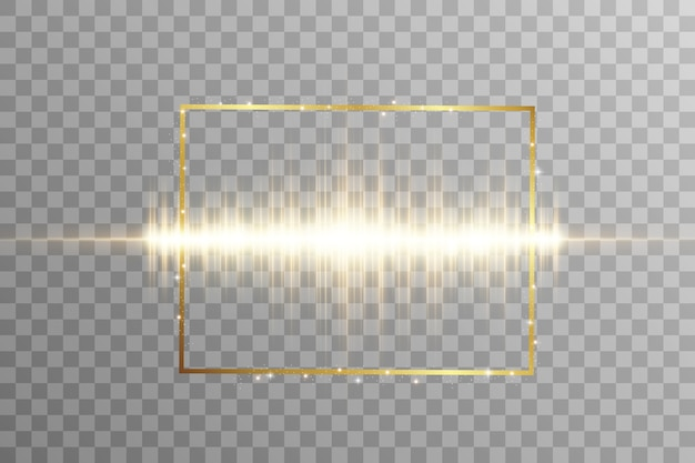 Efecto especial de luz. rayas luminosas en un marco.