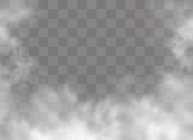 El efecto especial transparente se destaca con niebla o humo.
