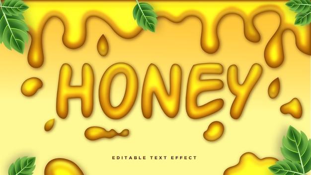 Efecto de estilo de texto 3d honey