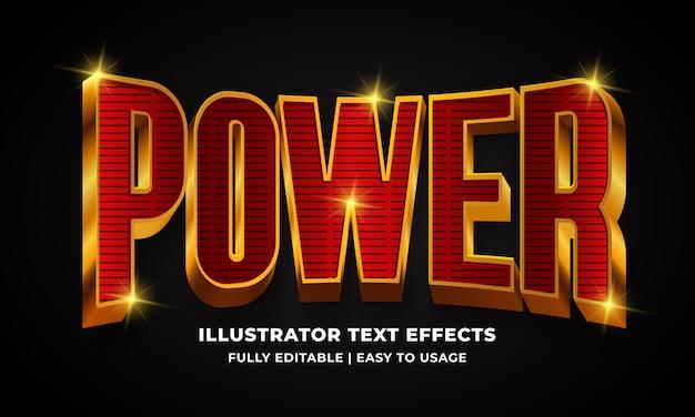 Efecto de estilo de texto 3d potente
