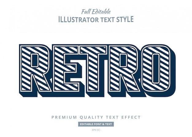 Efecto de estilo de texto 3d retro antiguo