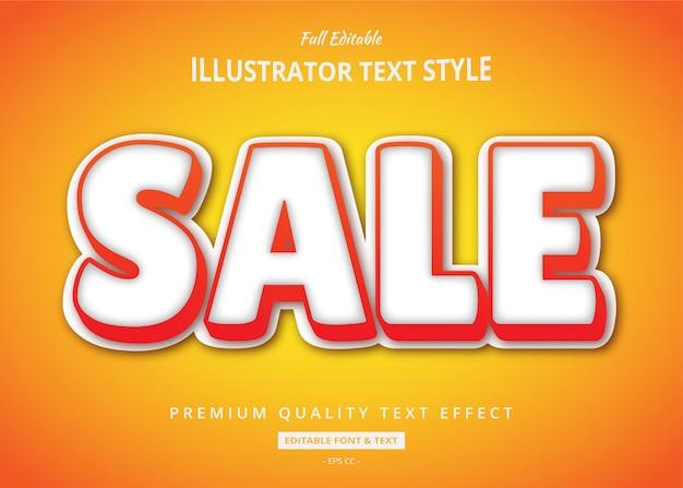 Efecto de estilo de texto 3d de venta naranja