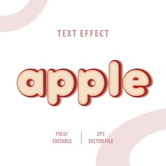 Efecto de estilo de texto de apple