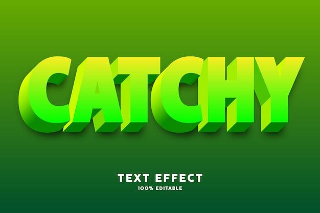 Efecto de estilo de texto brillante amarillo verde