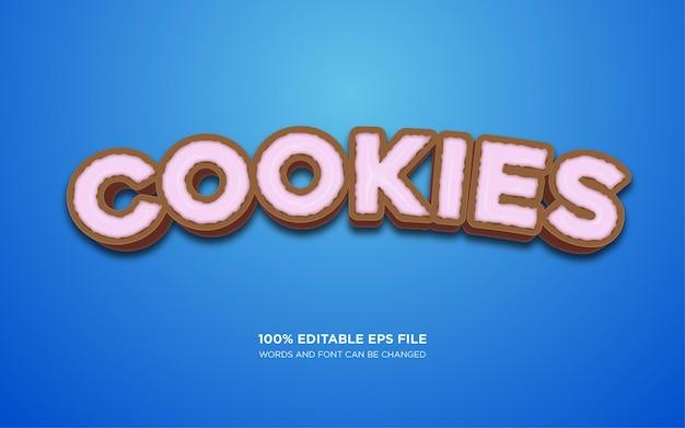 Efecto de estilo de texto de cookie