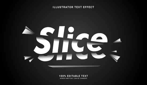 Efecto de estilo de texto de corte. efecto de texto editable