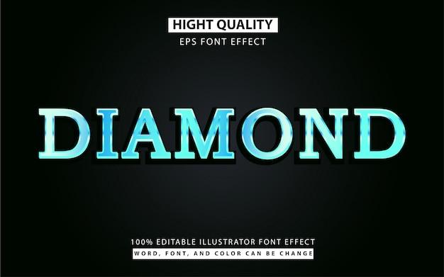 Efecto de estilo de texto de diamante azul