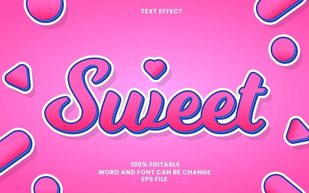 Efecto de estilo de texto dulce