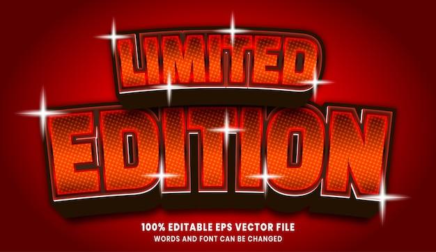 Efecto de estilo de texto editable 3d de edición limitada