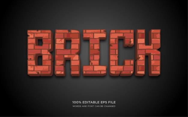 Efecto de estilo de texto editable brick d