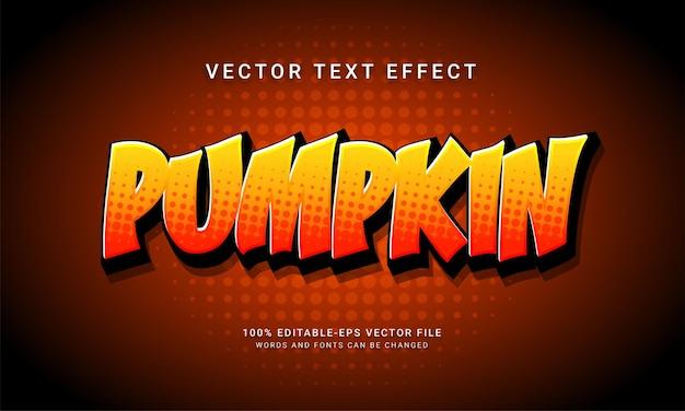 Efecto de estilo de texto editable cómico de calabaza con tema de evento de halloween