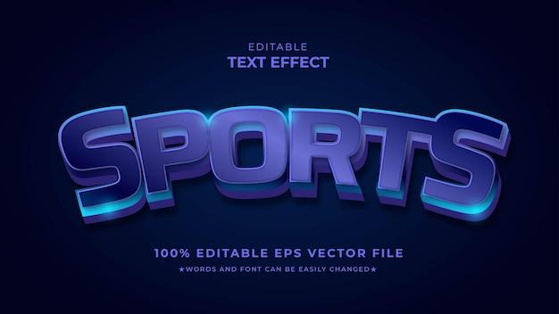 Efecto de estilo de texto editable deportivo