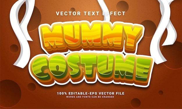 Efecto de estilo de texto editable de disfraz de momia adecuado para el tema del evento de halloween