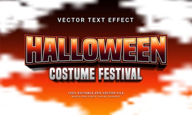 Efecto de estilo de texto editable del festival de disfraces de halloween con tema de evento de halloween