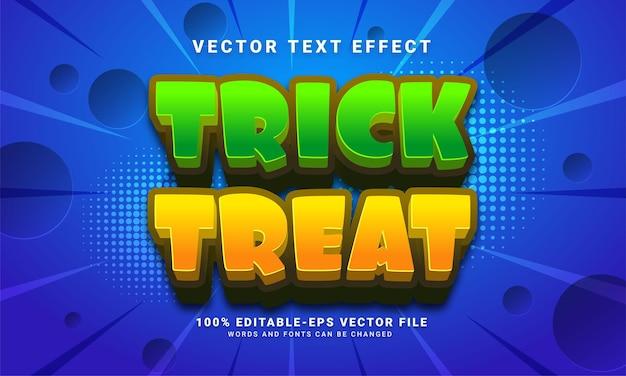 Efecto de estilo de texto editable de happy hallowen adecuado para el tema del evento de halloween