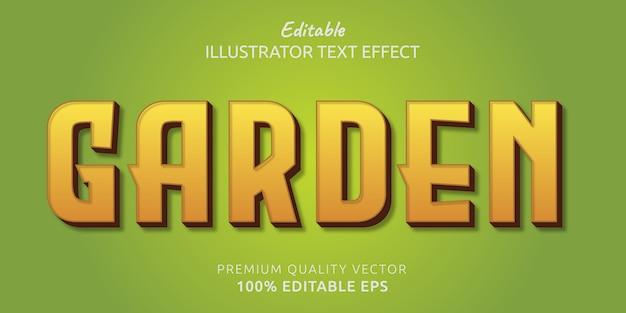 Efecto de estilo de texto editable de jardín