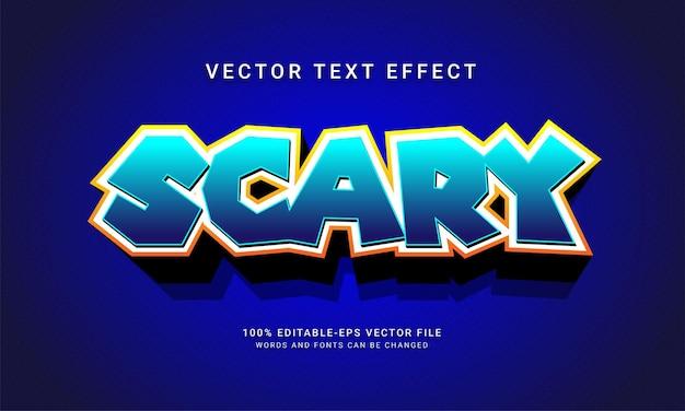 Efecto de estilo de texto editable de miedo con tema de evento de halloween