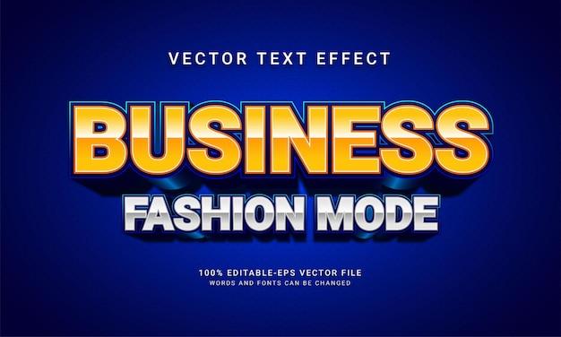 Efecto de estilo de texto editable del modo de moda empresarial con tema de promoción de venta
