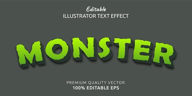 Efecto de estilo de texto editable de monstruo