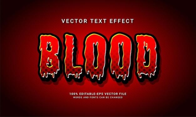 Efecto de estilo de texto editable de sangre con tema de evento de halloween