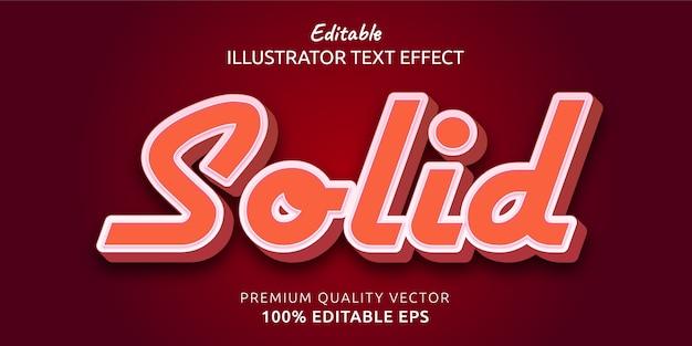 Efecto de estilo de texto editable sólido