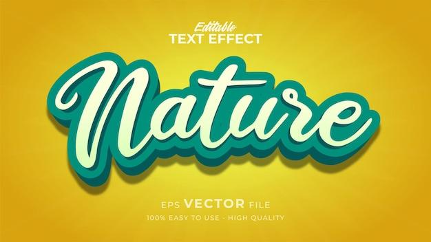 Efecto de estilo de texto editable: tema de estilo de texto de naturaleza fresca