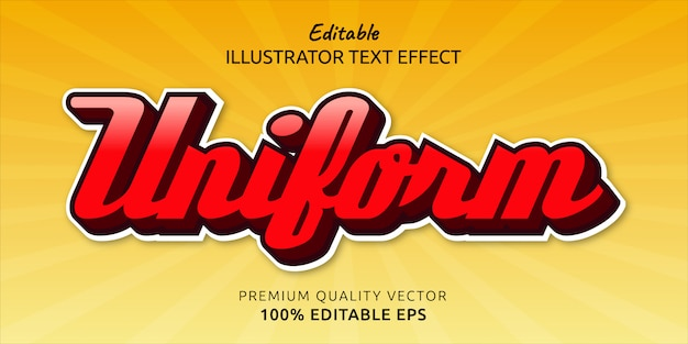Efecto de estilo de texto editable uniforme