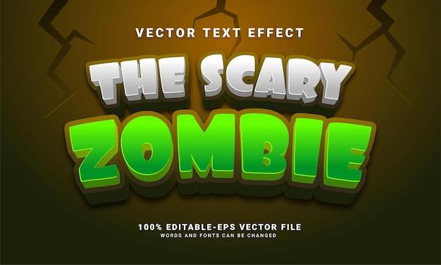 El efecto de estilo de texto editable zombie aterrador adecuado para el tema del evento de halloween