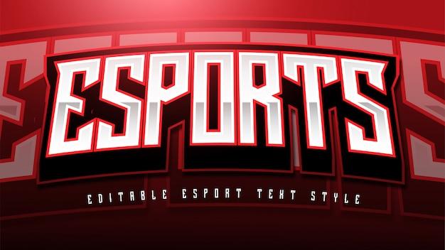 Efecto de estilo de texto de esport