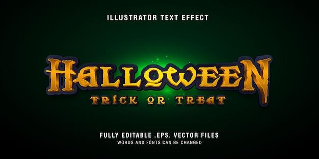 Efecto de estilo de texto de halloween, editable