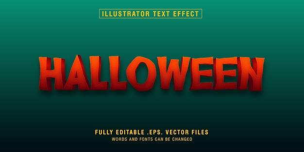 Efecto de estilo de texto de halloween