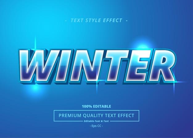 Efecto de estilo de texto de invierno