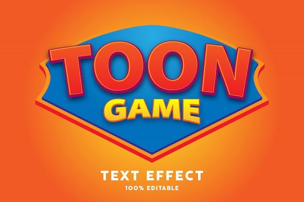 Efecto de estilo de texto de juego de dibujos animados