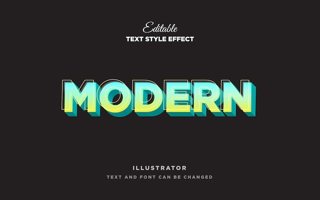 Efecto de estilo de texto ligero moderno